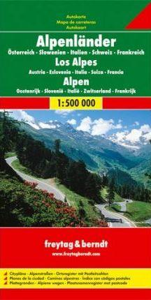 Alpen | wegenkaart, autokaart 1:500.000 9783707904253  Freytag & Berndt   Landkaarten en wegenkaarten Zwitserland en Oostenrijk (en Alpen als geheel)