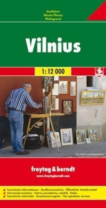 Vilnius 1:15.000 | stadsplattegrond 9783707904864  Freytag & Berndt   Stadsplattegronden Litouwen