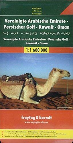 Vereinigte Arabische Emirate, Oman | autokaart, wegenkaart 1:1.600.000 9783707905984  Freytag & Berndt   Landkaarten en wegenkaarten Oman, Abu Dhabi, Dubai, Saudi-Arabië, Jemen