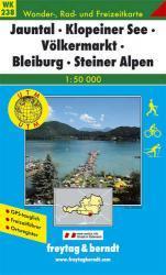 WK-238  Völkermarkt,Klopeiner See,Jauntal 9783707906035  Freytag & Berndt WK 1:50.000  Wandelkaarten Salzburg, Karinthië, Tauern, Stiermarken