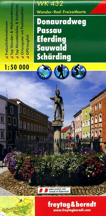 WK-432  Donauradweg 9783707906042  Freytag & Berndt   Fietskaarten Salzburg, Karinthië, Tauern, Stiermarken
