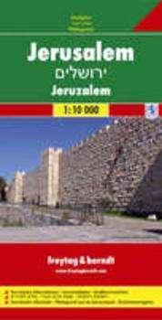 Jerusalem 1:10.000 | stadsplattegrond 9783707907896  Freytag & Berndt   Stadsplattegronden Israël, Palestina