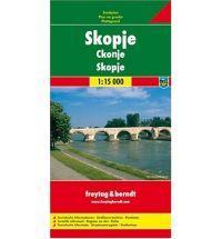 Skopje 1:15.000 | stadsplattegrond 9783707907933  Freytag & Berndt   Stadsplattegronden Servië, Bosnië-Hercegovina, Macedonië, Kosovo, Montenegro