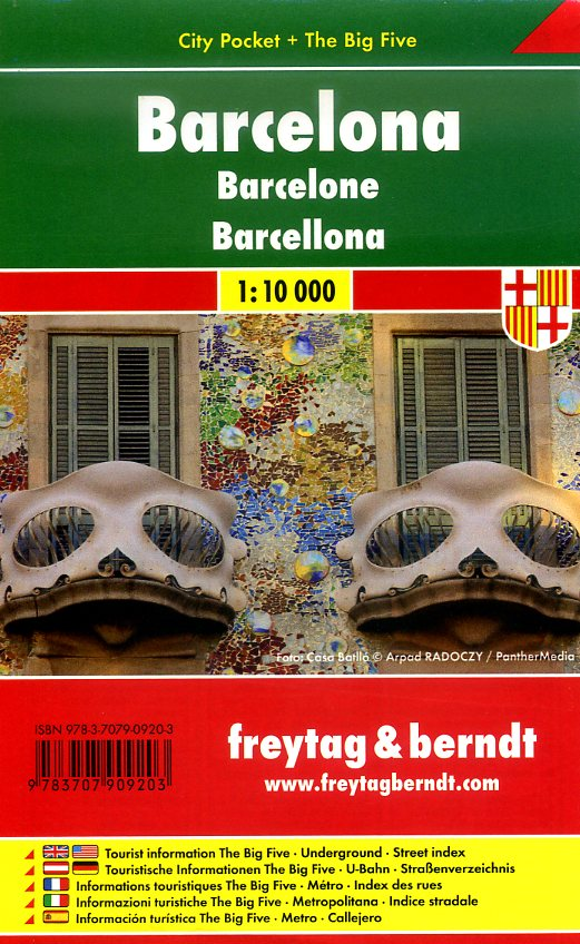 Barcelona 1:10.000 | stadsplattegrond 9783707909203  Freytag & Berndt Compact plattegrond  Stadsplattegronden Barcelona
