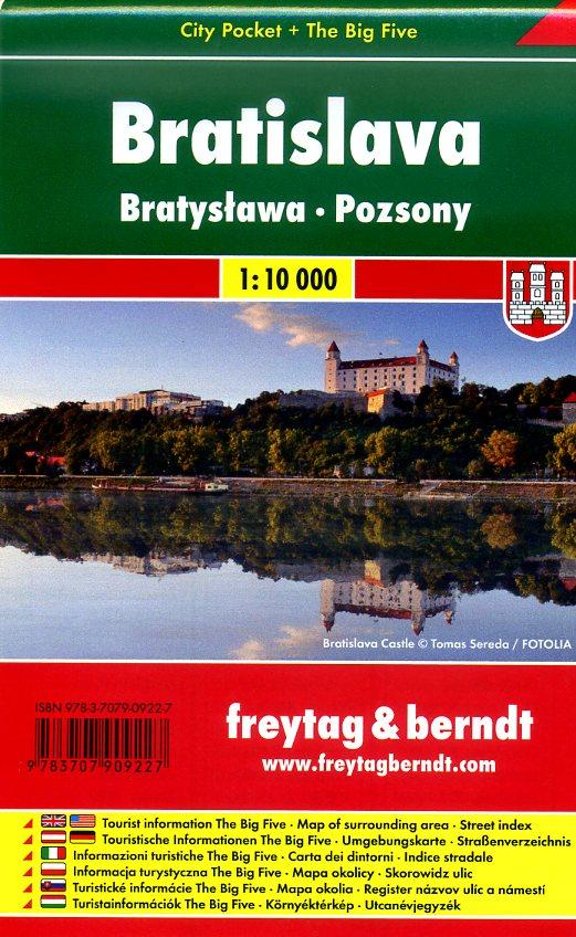 Bratislava 1:10.000 | stadsplattegrond 9783707909227  Freytag & Berndt Compact plattegrond  Stadsplattegronden Slowakije