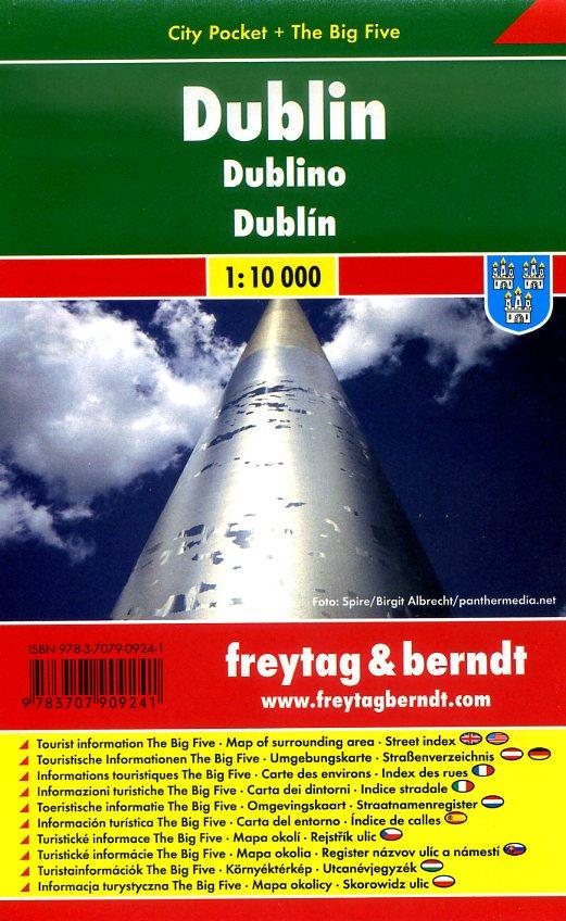 Dublin 1:10.000 | stadsplattegrond 9783707909241  Freytag & Berndt Compact plattegrond  Stadsplattegronden Dublin
