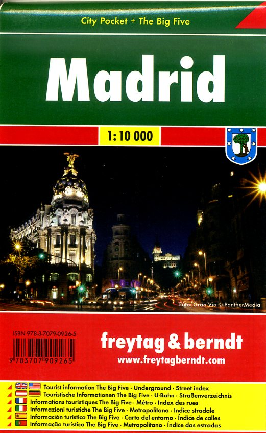 Madrid 1:10.000 | stadsplattegrond 9783707909265  Freytag & Berndt Compact plattegrond  Stadsplattegronden Madrid