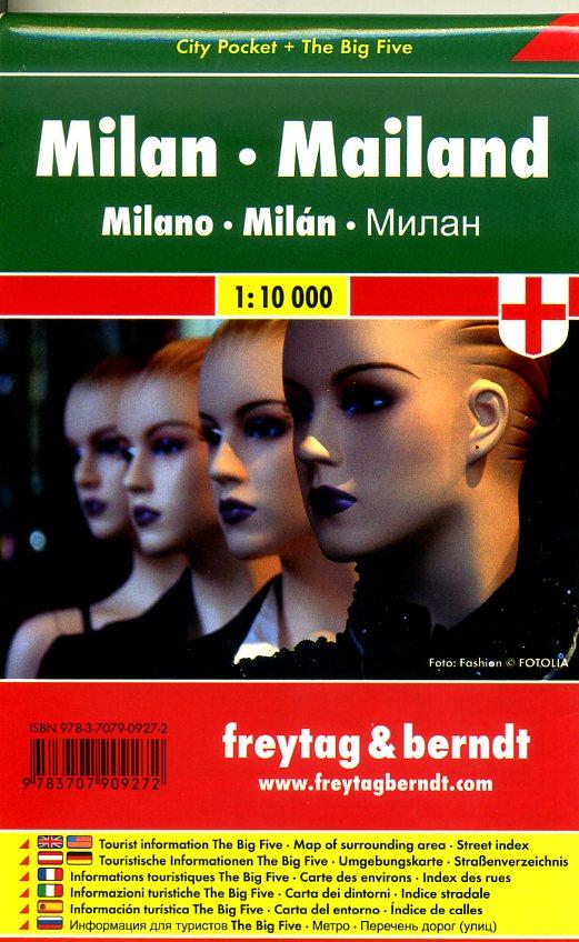 Milaan 1:10.000 | stadsplattegrond 9783707909272  Freytag & Berndt Compact plattegrond  Stadsplattegronden Milaan, Lombardije, Italiaanse Meren