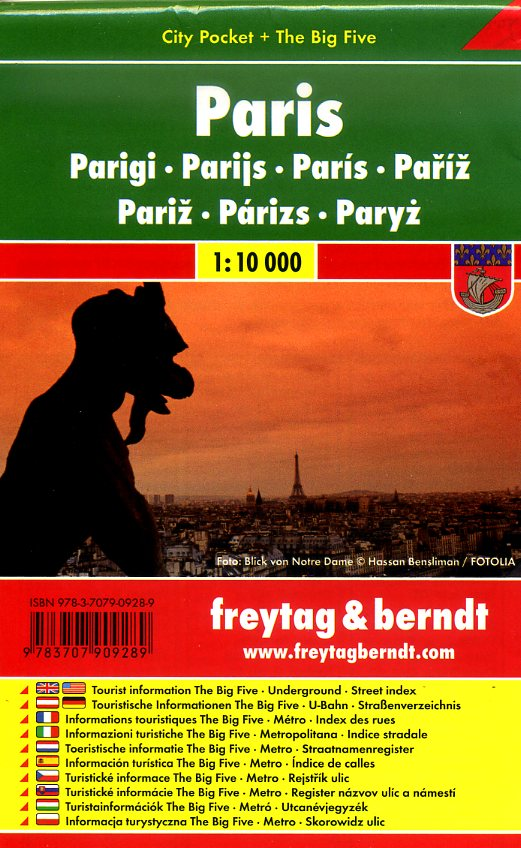 Parijs 1:10.000 | stadsplattegrond 9783707909289  Freytag & Berndt Compact plattegrond  Stadsplattegronden Parijs, Île-de-France
