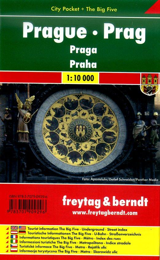 Praag 1:10.000   stadsplattegrond 9783707909296  Freytag & Berndt Compact plattegrond  Stadsplattegronden Tsjechië