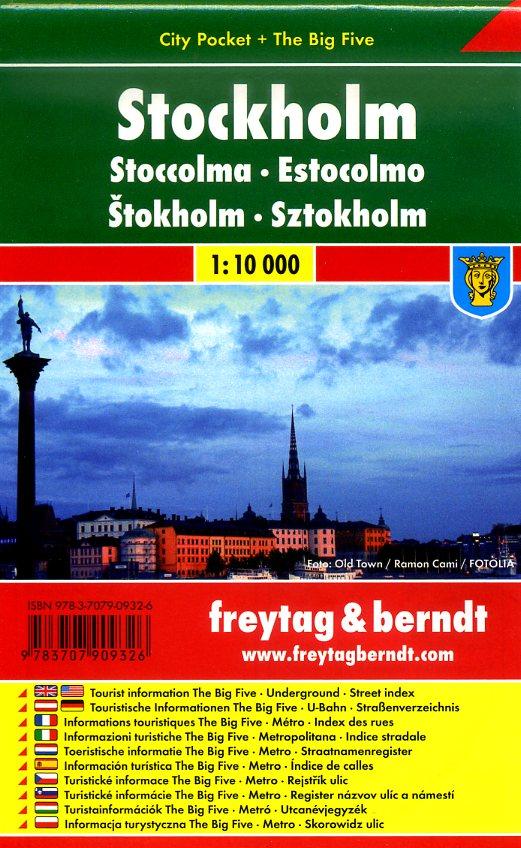 Stockholm 1:10.000 | stadsplattegrond 9783707909326  Freytag & Berndt Compact plattegrond  Stadsplattegronden Stockholm