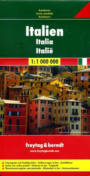 Italië | autokaart, wegenkaart 1:1.000.000 9783707909586  Freytag & Berndt Italië Wegenkaarten  Landkaarten en wegenkaarten Italië