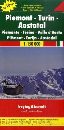 Piemonte | autokaart, wegenkaart 1:150.000 9783707909609  Freytag & Berndt Italië Wegenkaarten  Landkaarten en wegenkaarten Aosta, Gran Paradiso, Turijn, Piemonte