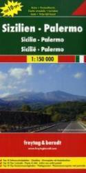 Sicilia | autokaart, wegenkaart 1:150.000 9783707909623  Freytag & Berndt Italië Wegenkaarten  Landkaarten en wegenkaarten Sicilië