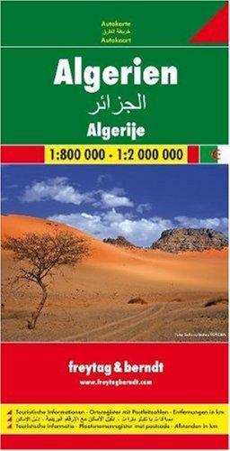 Algerije | wegenkaart, autokaart 1:2.000.000 9783707909661  Freytag & Berndt   Landkaarten en wegenkaarten Algerije, Tunesië, Libië