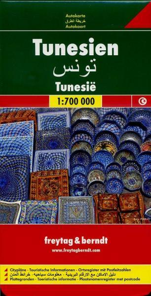 Tunesie | autokaart, wegenkaart 1:700.000 9783707909678  Freytag & Berndt   Landkaarten en wegenkaarten Algerije, Tunesië, Libië