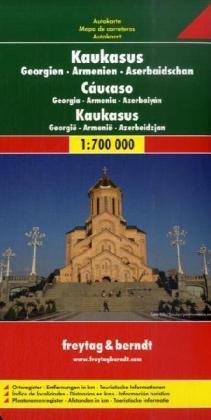 Georgie/ Armenie/ Azerbaidzjan | autokaart, wegenkaart 1:700.000 9783707909739  Freytag & Berndt   Landkaarten en wegenkaarten Kaukasus