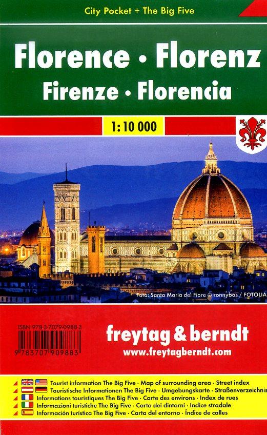 Florence 1:10.000 (Firenze) | stadsplattegrond 9783707909883  Freytag & Berndt Compact plattegrond  Stadsplattegronden Toscane, Florence