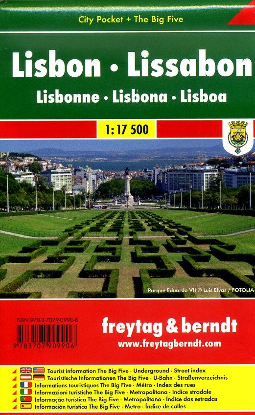 Lissabon 1:17.500 | stadsplattegrond 9783707909906  Freytag & Berndt Compact plattegrond  Stadsplattegronden Noord en Midden-Portugal, Lissabon