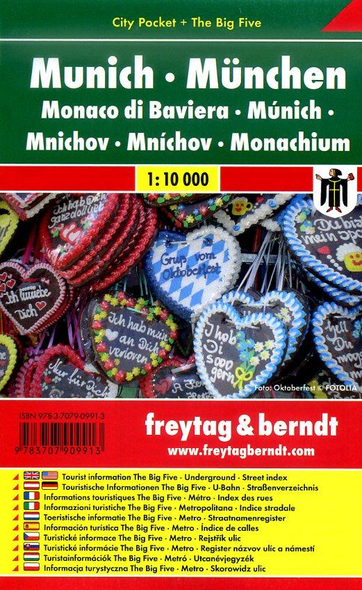 München 1:10.000 | stadsplattegrond 9783707909913  Freytag & Berndt Compact plattegrond  Stadsplattegronden München en omgeving