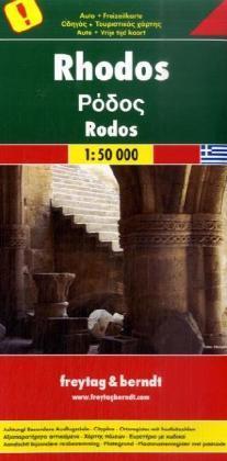 Rhodos | autokaart, wegenkaart 1:50.000 9783707910582  Freytag & Berndt   Landkaarten en wegenkaarten Egeïsche Eilanden