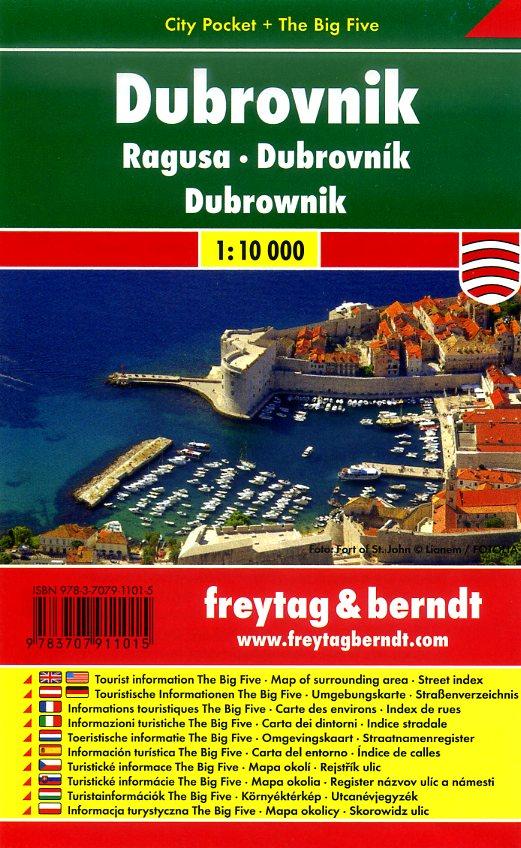 Dubrovnik 1:10.000 | stadsplattegrond 9783707911015  Freytag & Berndt Compact plattegrond  Stadsplattegronden Kroatië