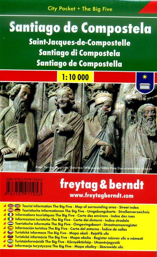 Santiago de Compostela 1:10.000 | stadsplattegrond 9783707911053  Freytag & Berndt Compact plattegrond  Santiago de Compostela, Stadsplattegronden Santiago de Compostela