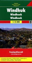 Windhoek 1:15.000 | stadsplattegrond 9783707911077  Freytag & Berndt   Stadsplattegronden Botswana, Namibië