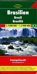 Brazilië | autokaart, wegenkaart 1:2.000.000/3.000.000 9783707911268  Freytag & Berndt   Landkaarten en wegenkaarten Brazilië