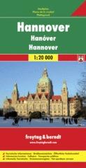 Hannover 1:20.000 Stadsplattegrond 9783707912197  Freytag & Berndt   Stadsplattegronden Lüneburger Heide, Hannover, Weserbergland