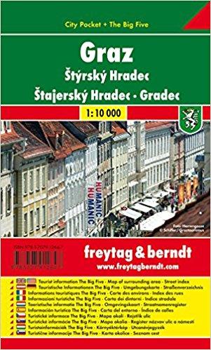 Graz 1:10.000 | stadsplattegrond 9783707912647  Freytag & Berndt Compact plattegrond  Stadsplattegronden Wenen, Noord- en Oost-Oostenrijk
