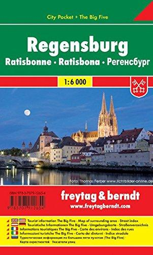 Regensburg 1:10.000 | stadsplattegrond 9783707912654  Freytag & Berndt Compact plattegrond  Stadsplattegronden Beierse Woud, Regensburg, Passau