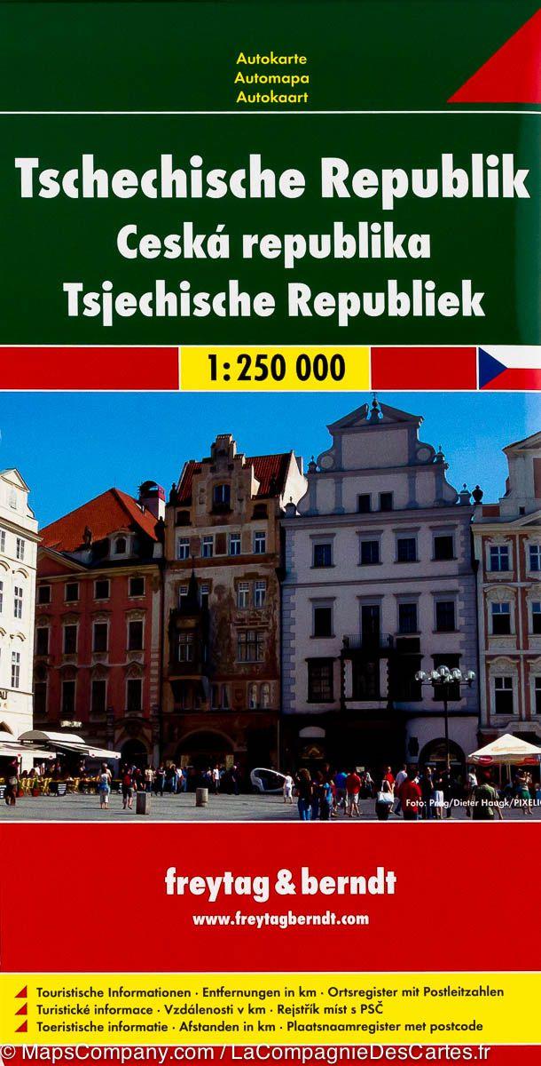 Tsjechie | autokaart, wegenkaart 1:250.000 9783707912852  Freytag & Berndt   Landkaarten en wegenkaarten Tsjechië
