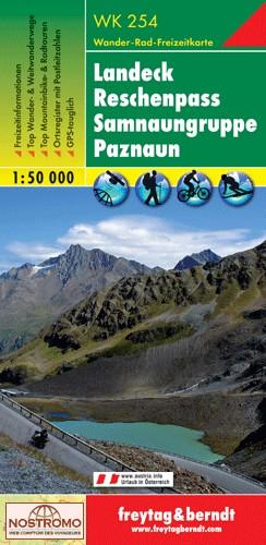 WK-254  Landeck,Reschenpass,Kaunertal 9783707913415  Freytag & Berndt WK 1:50.000  Wandelkaarten Tirol & Vorarlberg