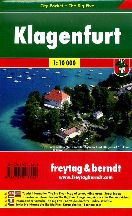 Klagenfurt 1:10.000 | stadsplattegrond 9783707913545  Freytag & Berndt Compact plattegrond  Stadsplattegronden Wenen, Noord- en Oost-Oostenrijk