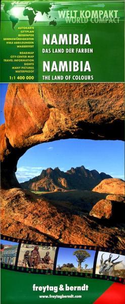 Namibia | autokaart, wegenkaart 1:1.000.000 9783707913699  Freytag & Berndt   Landkaarten en wegenkaarten Botswana, Namibië