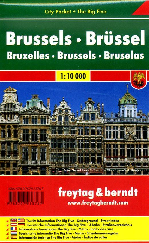 Brussel 1:10.000 | stadsplattegrond 9783707913767  Freytag & Berndt Compact plattegrond  Stadsplattegronden Brussel