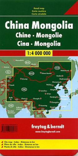 China | autokaart, wegenkaart 1:3.000.000 9783707913903  Freytag & Berndt   Landkaarten en wegenkaarten China (Tibet: zie Himalaya)