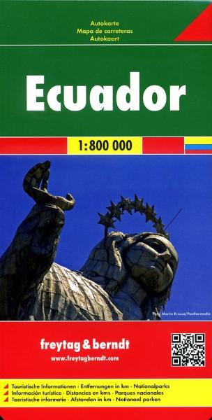 Ecuador | autokaart, wegenkaart 1:800.000 9783707913965  Freytag & Berndt   Landkaarten en wegenkaarten Ecuador, Galapagos