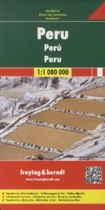Peru  | autokaart, wegenkaart 1:1.000.000 9783707913972  Freytag & Berndt   Landkaarten en wegenkaarten Peru
