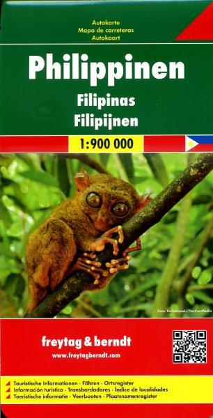 Philippines | autokaart, wegenkaart 1:950.000 9783707914146  Freytag & Berndt   Landkaarten en wegenkaarten Filippijnen