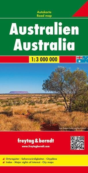 Australië | wegenkaart, autokaart 1:3.000.000 9783707914153  Freytag & Berndt   Landkaarten en wegenkaarten Australië