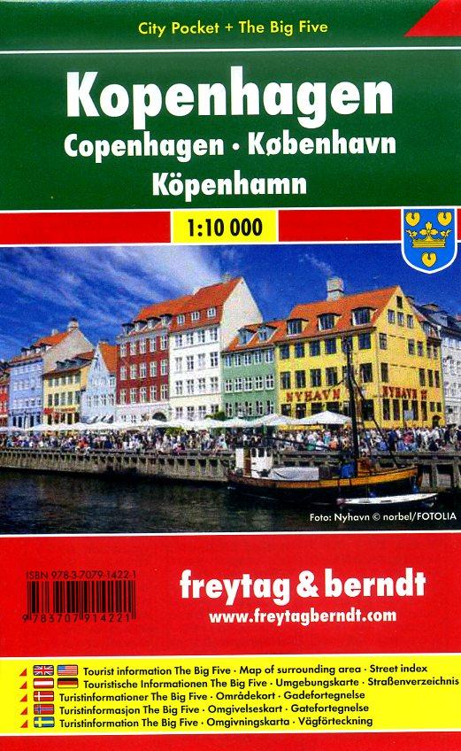 Kopenhagen 1:10.000 | stadsplattegrond 9783707914221  Freytag & Berndt Compact plattegrond  Stadsplattegronden Denemarken