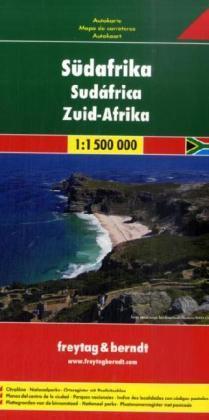 Zuid-Afrika  | autokaart, wegenkaart 1:1.500.000 9783707914528  Freytag & Berndt   Landkaarten en wegenkaarten Zuid-Afrika