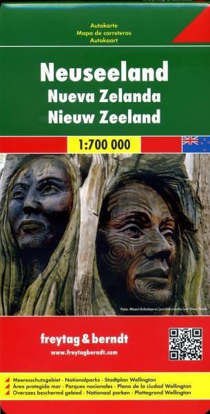 New Zealand | autokaart, wegenkaart 1:700.000 9783707914832  Freytag & Berndt   Landkaarten en wegenkaarten Nieuw Zeeland