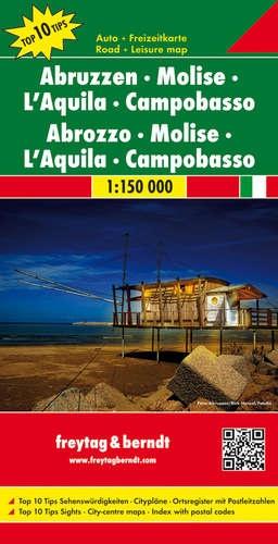 Abruzzen (Abruzzo) | autokaart, wegenkaart 1:150.000 9783707914894  Freytag & Berndt Italië Wegenkaarten  Landkaarten en wegenkaarten Abruzzen en Molise