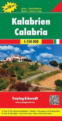 Calabria | autokaart, wegenkaart 1:150.000 9783707914931  Freytag & Berndt Italië Wegenkaarten  Landkaarten en wegenkaarten Calabrië