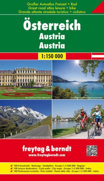 Österreich Supertouring 1:150.000 9783707916102  Freytag & Berndt Wegenatlassen  Wegenatlassen Oostenrijk