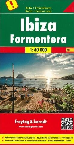 Ibiza & Formentera wandelkaart / autokaart 1:40.000 9783707916232  Freytag & Berndt   Landkaarten en wegenkaarten, Wandelkaarten Ibiza