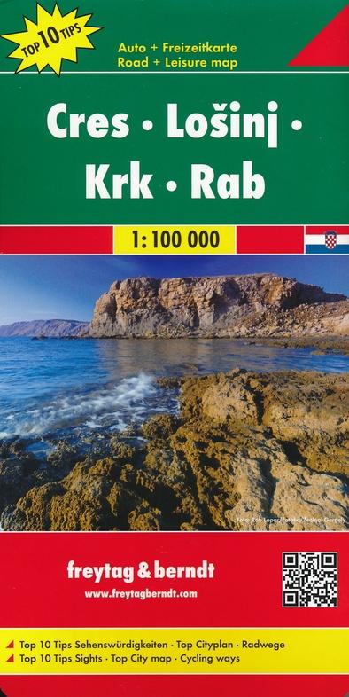 Cres/Losinj/Krk/Rab | autokaart, wegenkaart 1:100.000 9783707916485  Freytag & Berndt   Landkaarten en wegenkaarten Kroatië